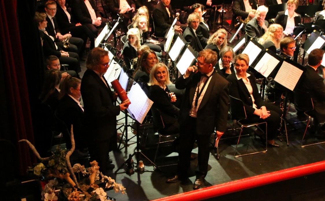 Carl Wittrock 25 jaar dirigent